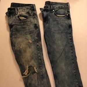 2 Men's Pacsun Jeans Bundle